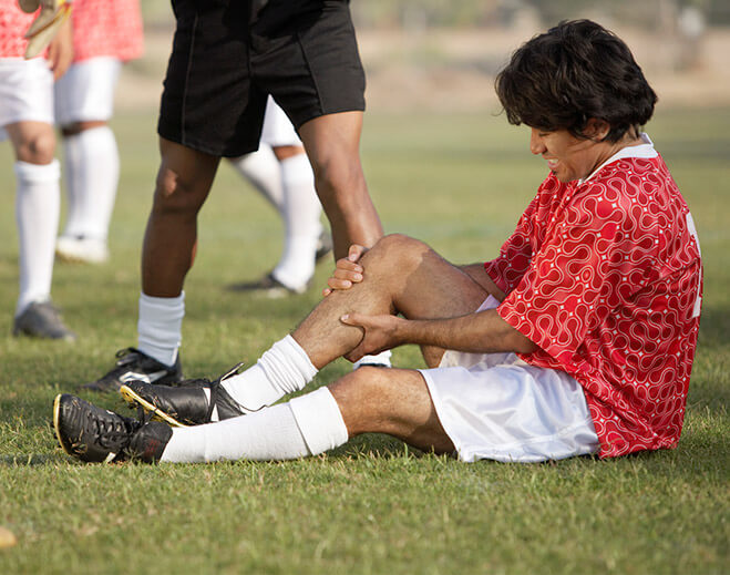 Hurt Soccer player
