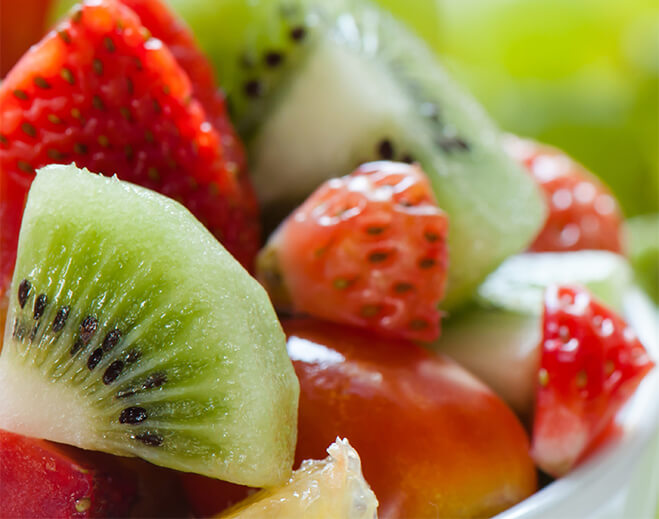 healthy fruit salad with kiwi