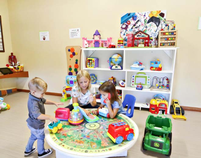 Play Area: There is a play area in the waiting room if you would like to play with some of our toys while you wait